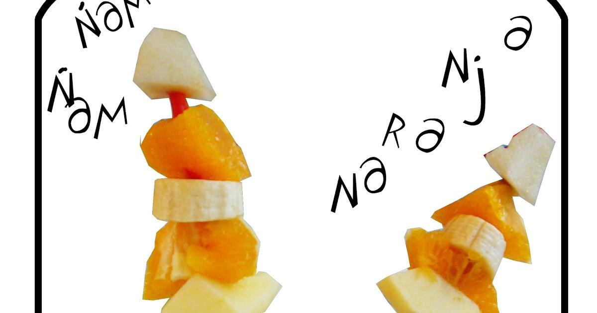 Seda de zanahoria brocheta de frutas divertidas - Hadas y cuscus ...