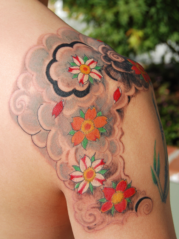girl tattoos on shoulder. shoulder. tattoo Shoulder