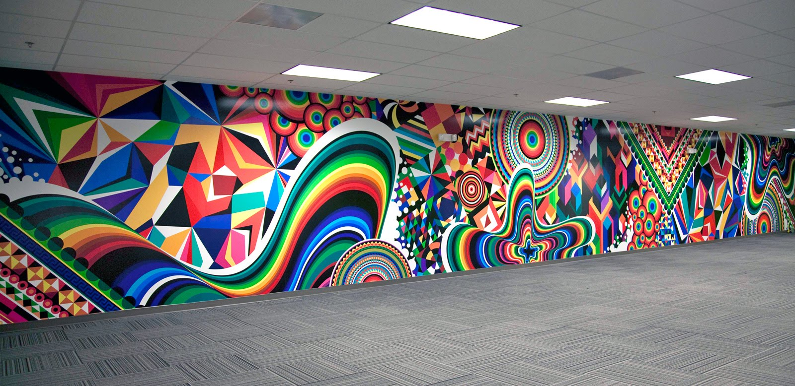 Mwm news blog super sized pop art op art for Abstract mural art