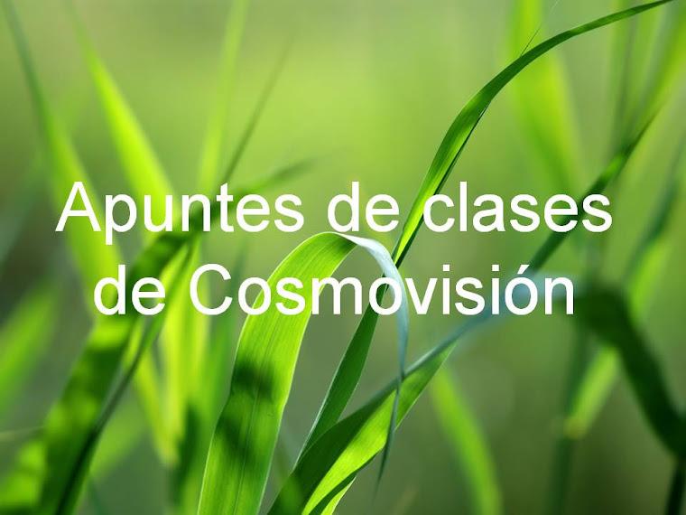 Apuntes de clases de Cosmovisión.