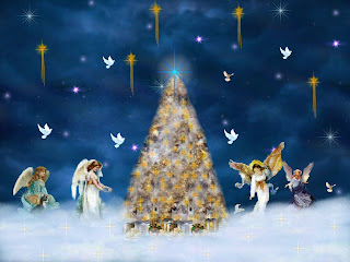Free Christmas Angels Wallpaper