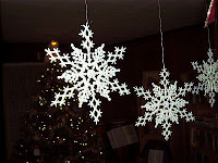 3D Glittering Snowflakes