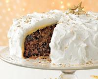 xmas creamy cake wallpaper