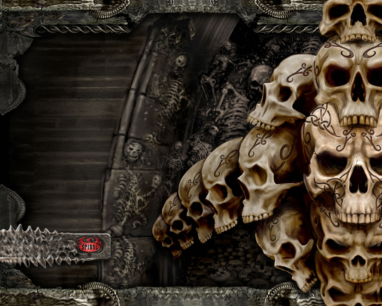 evil skull wallpapers screensaver - photo #29