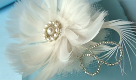 hair accessories: vintage inspired hair flower for wedding tutorial