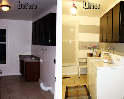 laundry room before and after stripped wall ideas