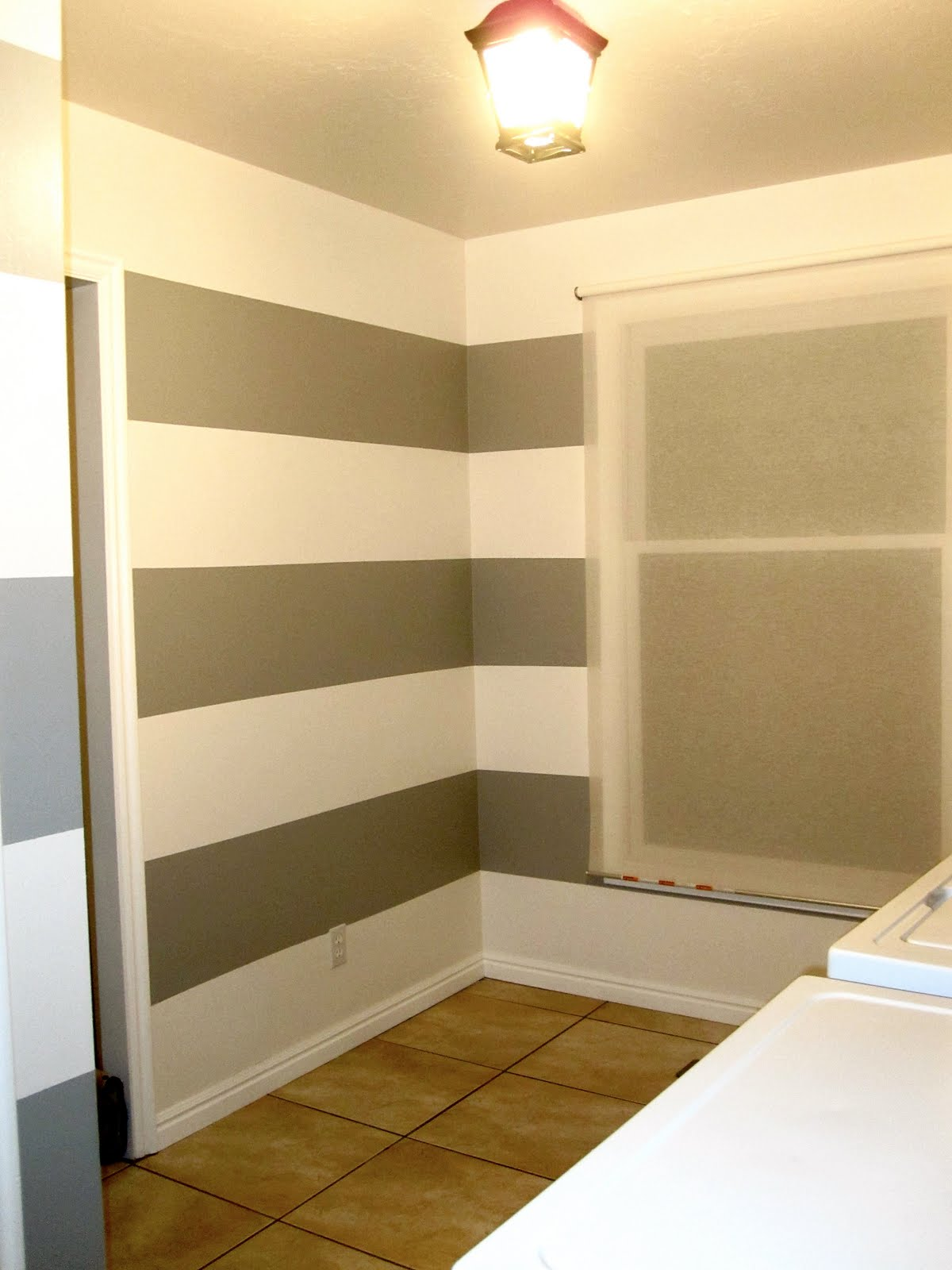 Bird and Berry: Laundry Room Makeover - How to Paint Stripes