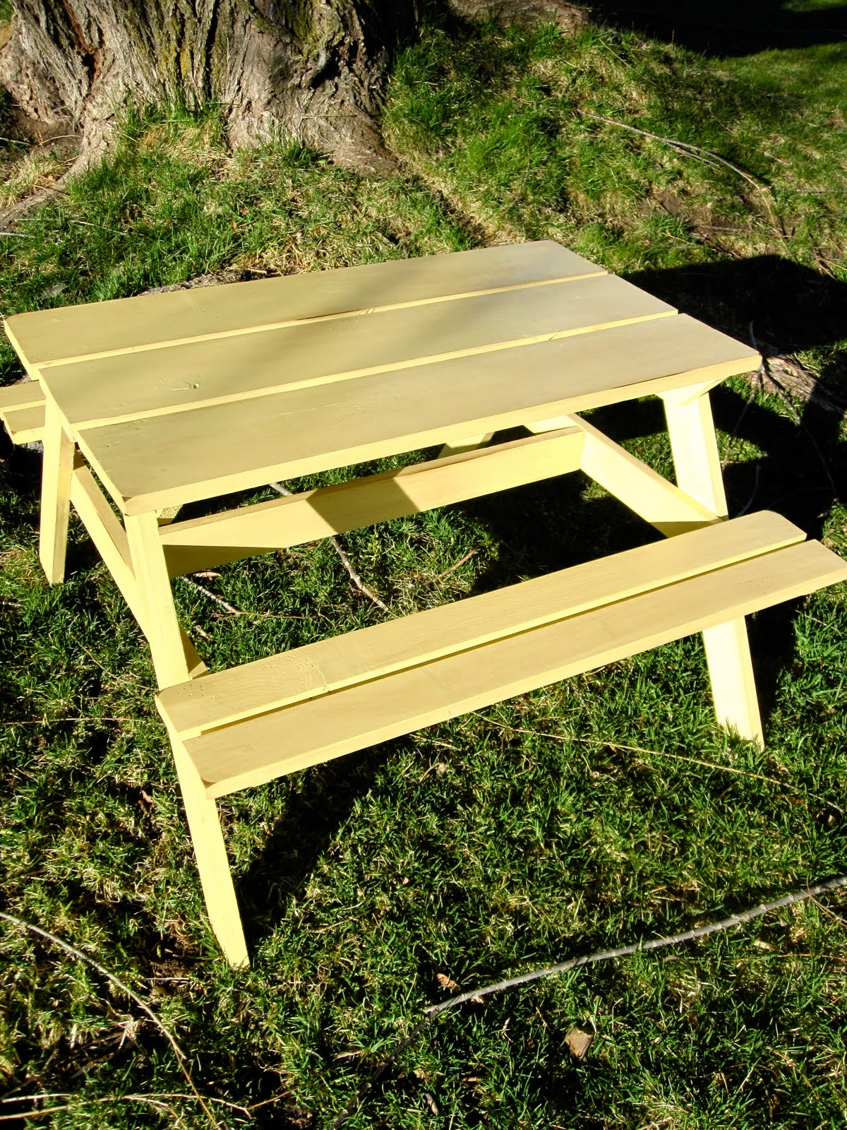 Pin Bird And Berry Kids Picnic Bench Finished Painted On Pinterest