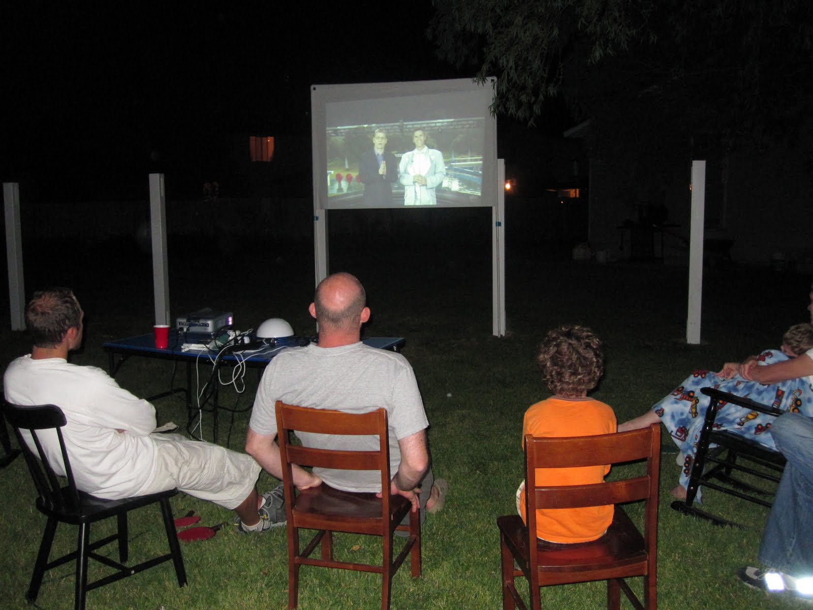 bird and berry backyard movie night