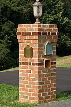 Brick Mailbox Column Pictures http://masonpro.blogspot.com/2010/12/how-to-build-masonry-mailbox.html