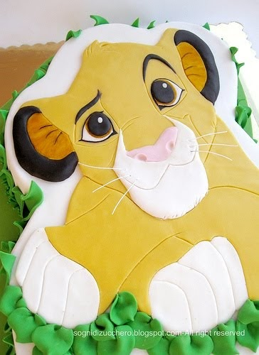 Simba Baby Shower Cake Topper