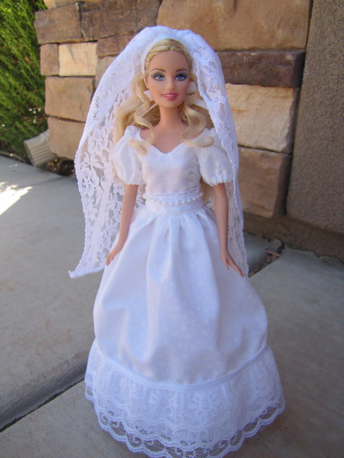 Modest Barbie Style Blushing Bride