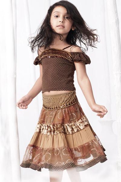 iki parçalı çocuk elbise modelleri