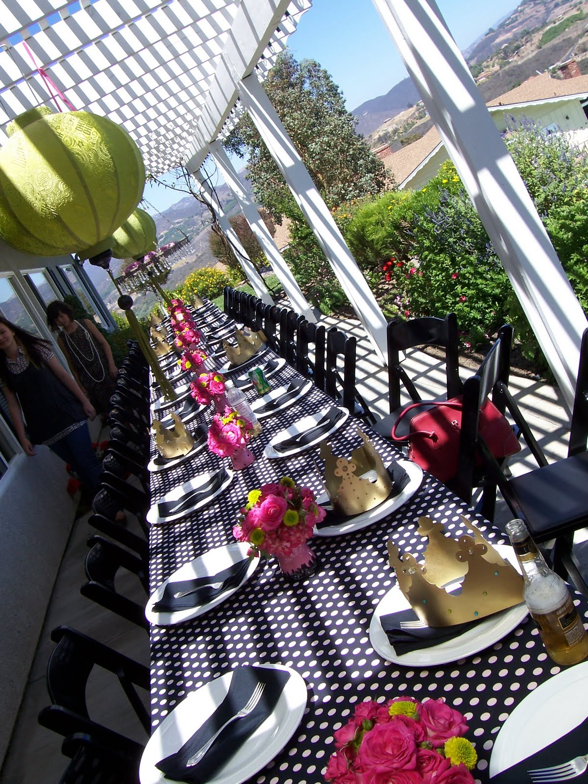 Amore bella designs outdoor brunch decor black white for Outdoor brunch decorating ideas