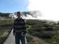 Me at the craters of the moon, just outside Taupo