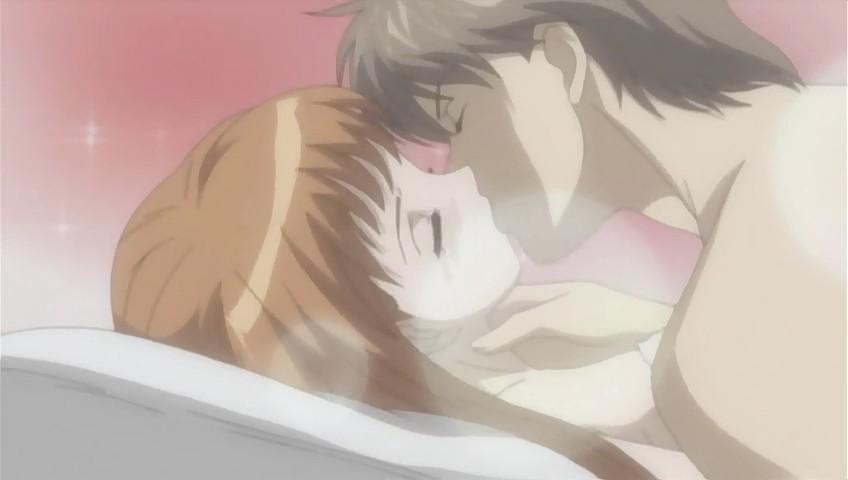 Порно картинки из аниме озорной поцелуй