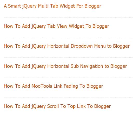 Post Title Only on Blogger Homepage