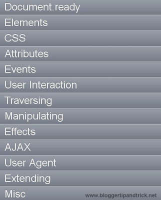 jTouch – jQuery Cheat Sheet for iPhone