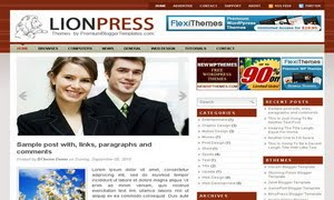 Lion Press Blogger Template