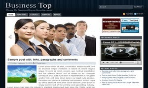 Business Top Blogger Template