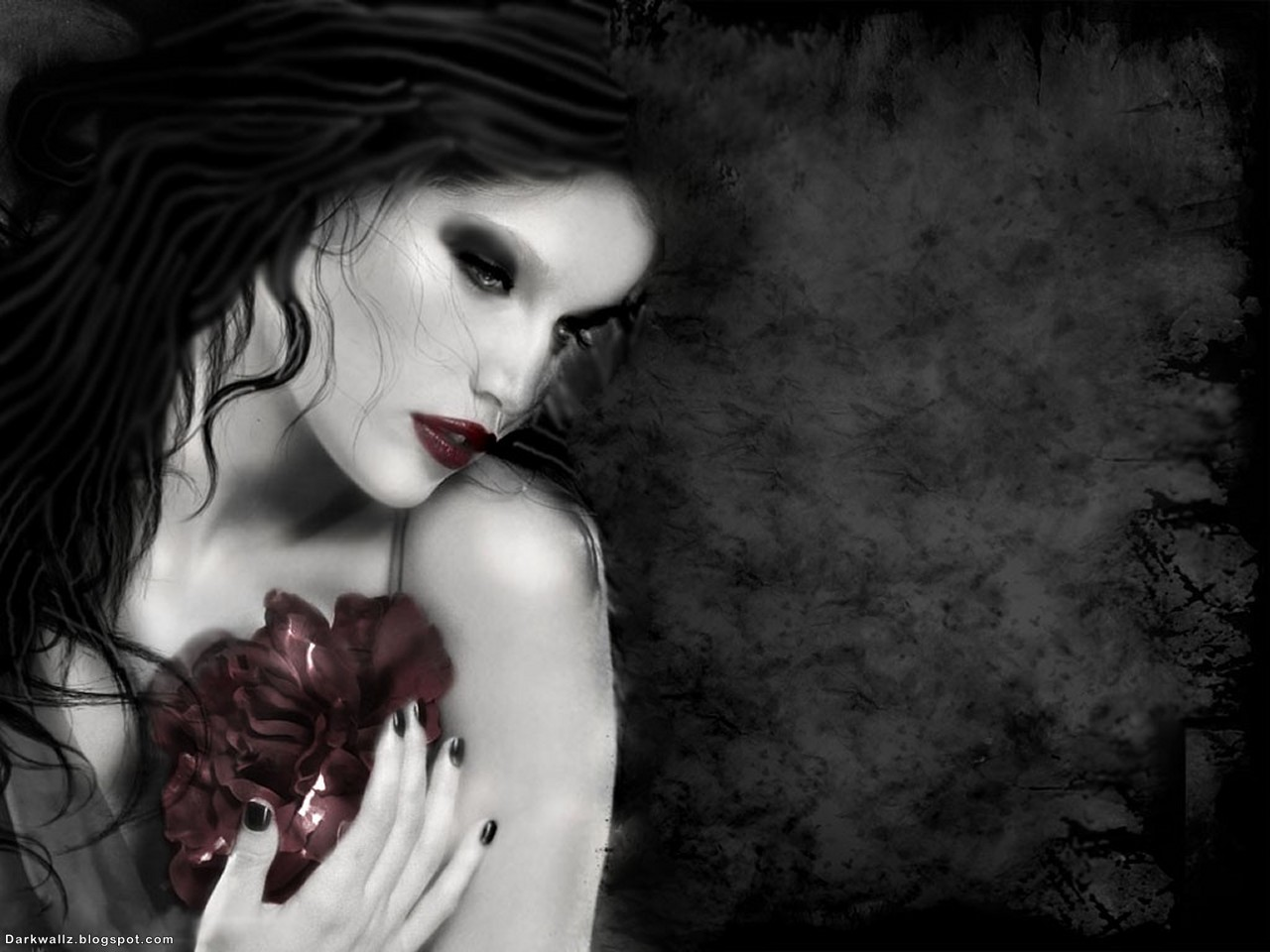 Dainty Gothic Girl | Dark Wallpaper Download