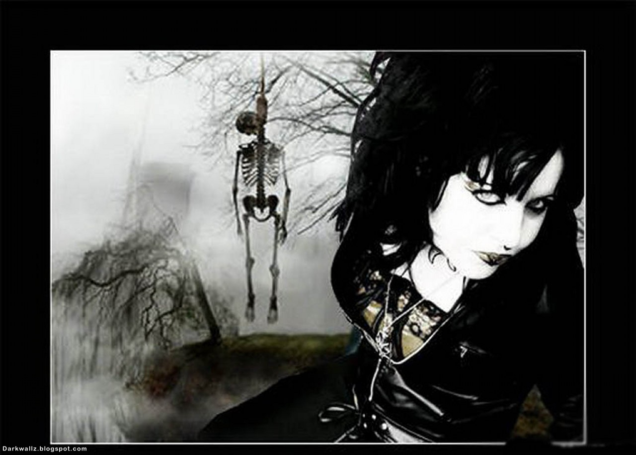Gothic Girl And Hanged On The Tree | Dark Wallpaper Download