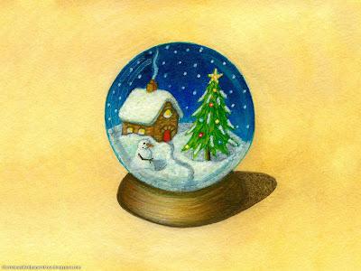 Christmas Paintings HD Desktop Wallpapers