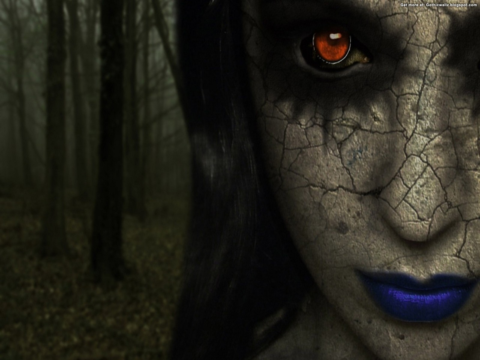 Red Eyed | Gothic Wallpaper Download