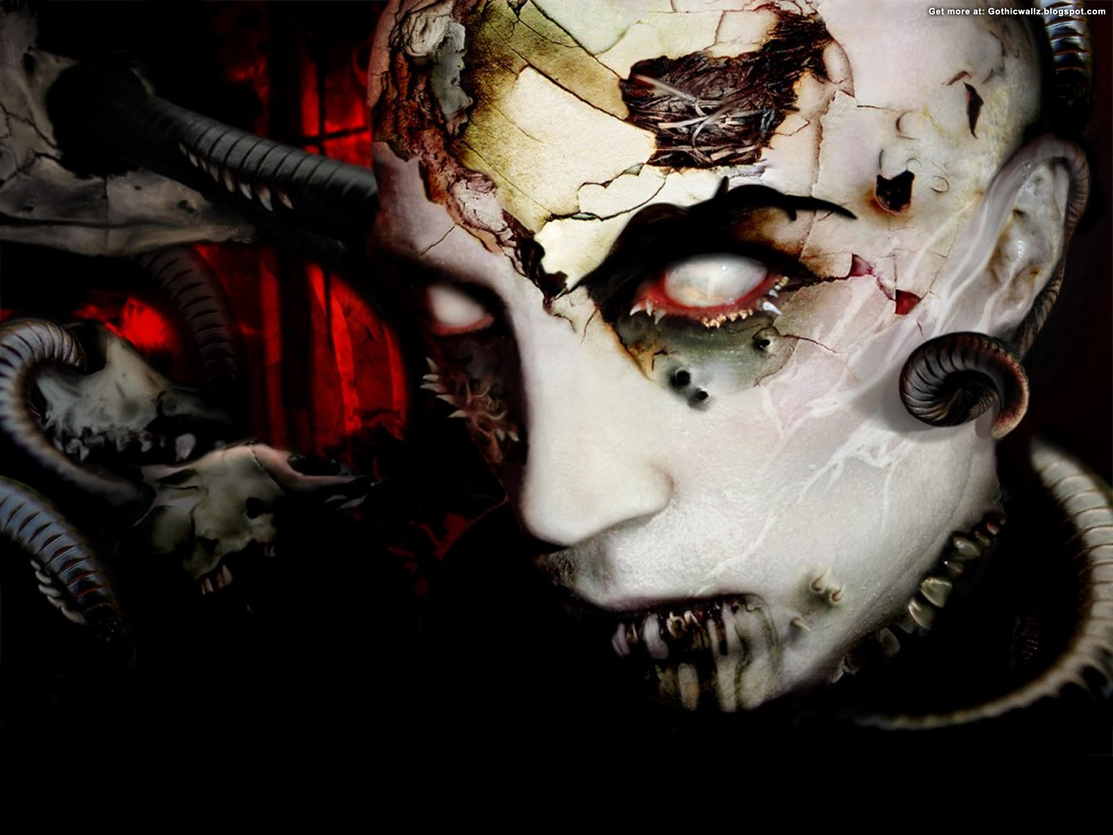 Devil With Horns | Gothic Wallpaper Download