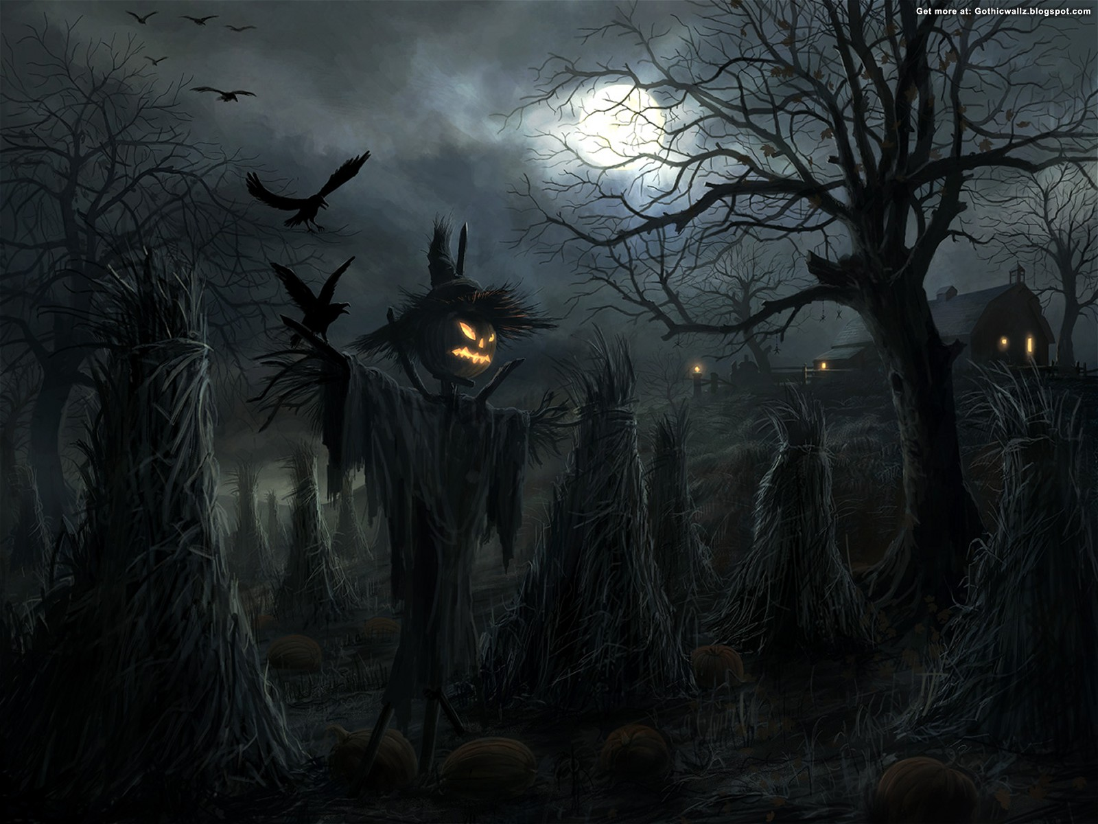 Halloween Graveyard | Gothic Wallpaper Download