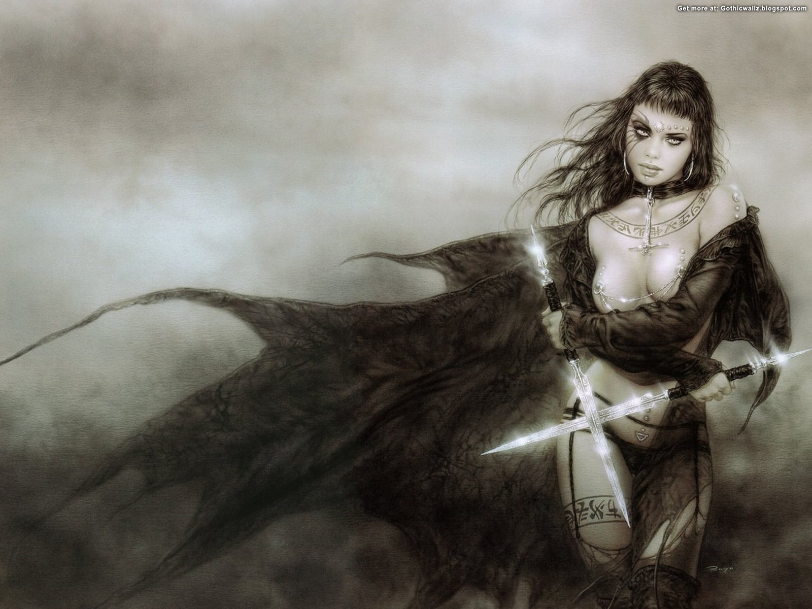 Warrior Girl | Gothic Wallpaper Download