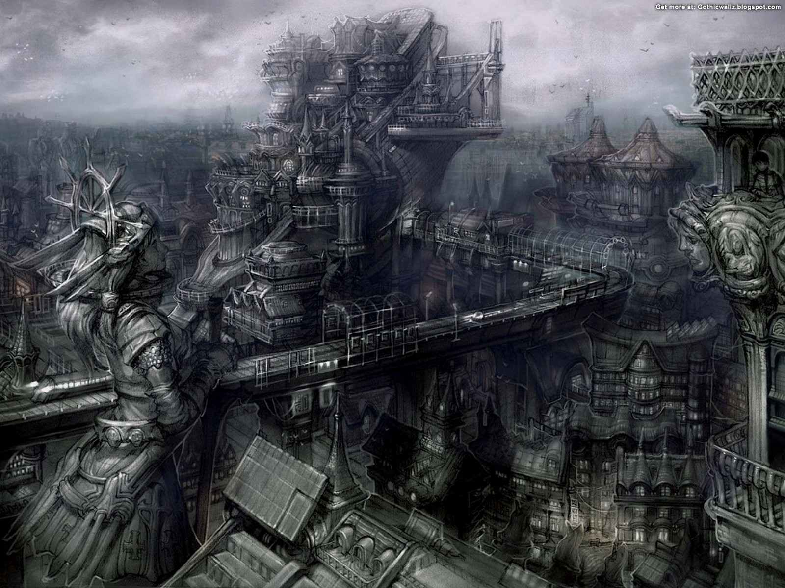Goth City | Gothic Wallpaper Download