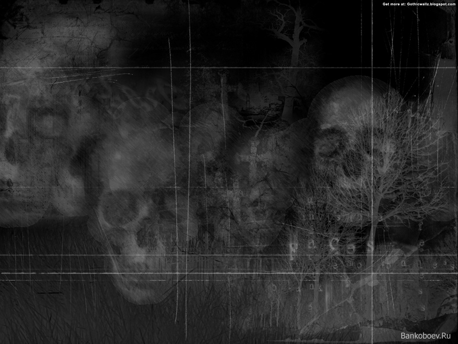 Invading Skulls | Gothic Wallpaper Download