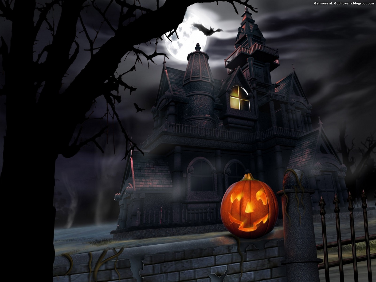 house and pumpkin | Gothic Wallpaper Download