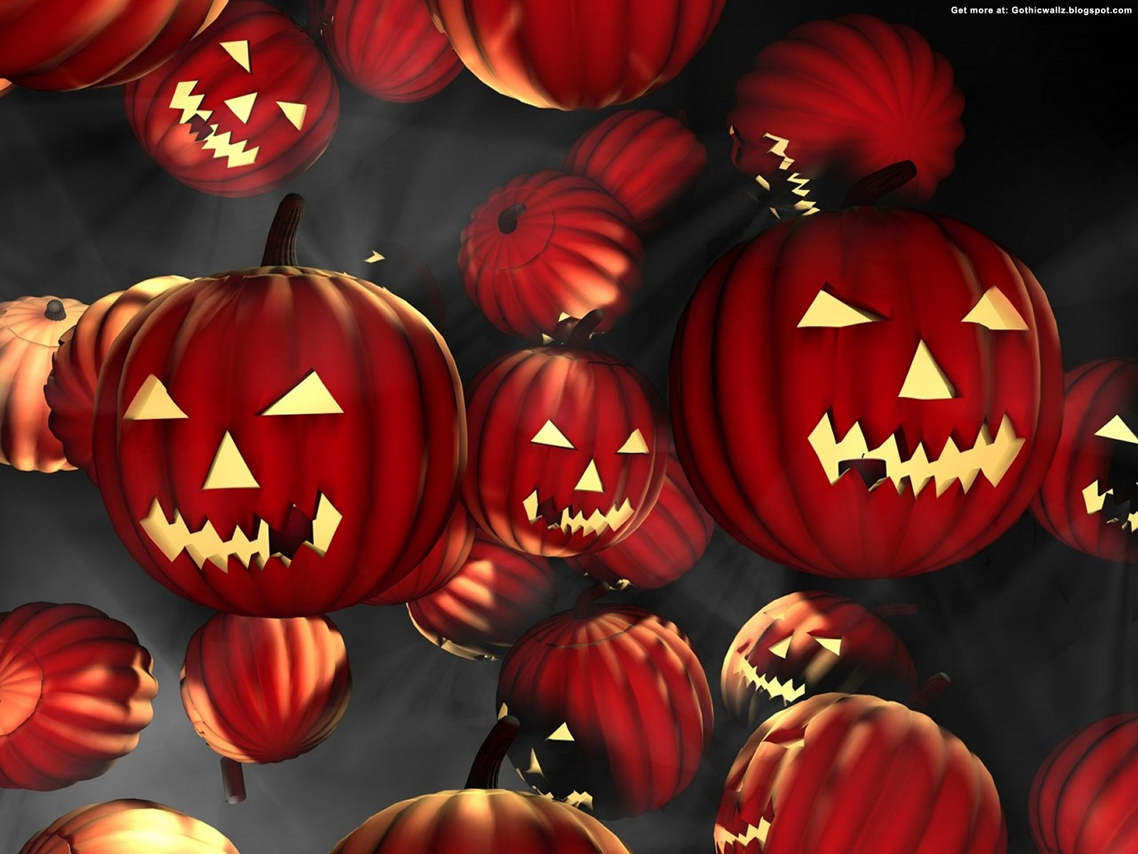 red halloween pumpkins | Gothic Wallpaper Download