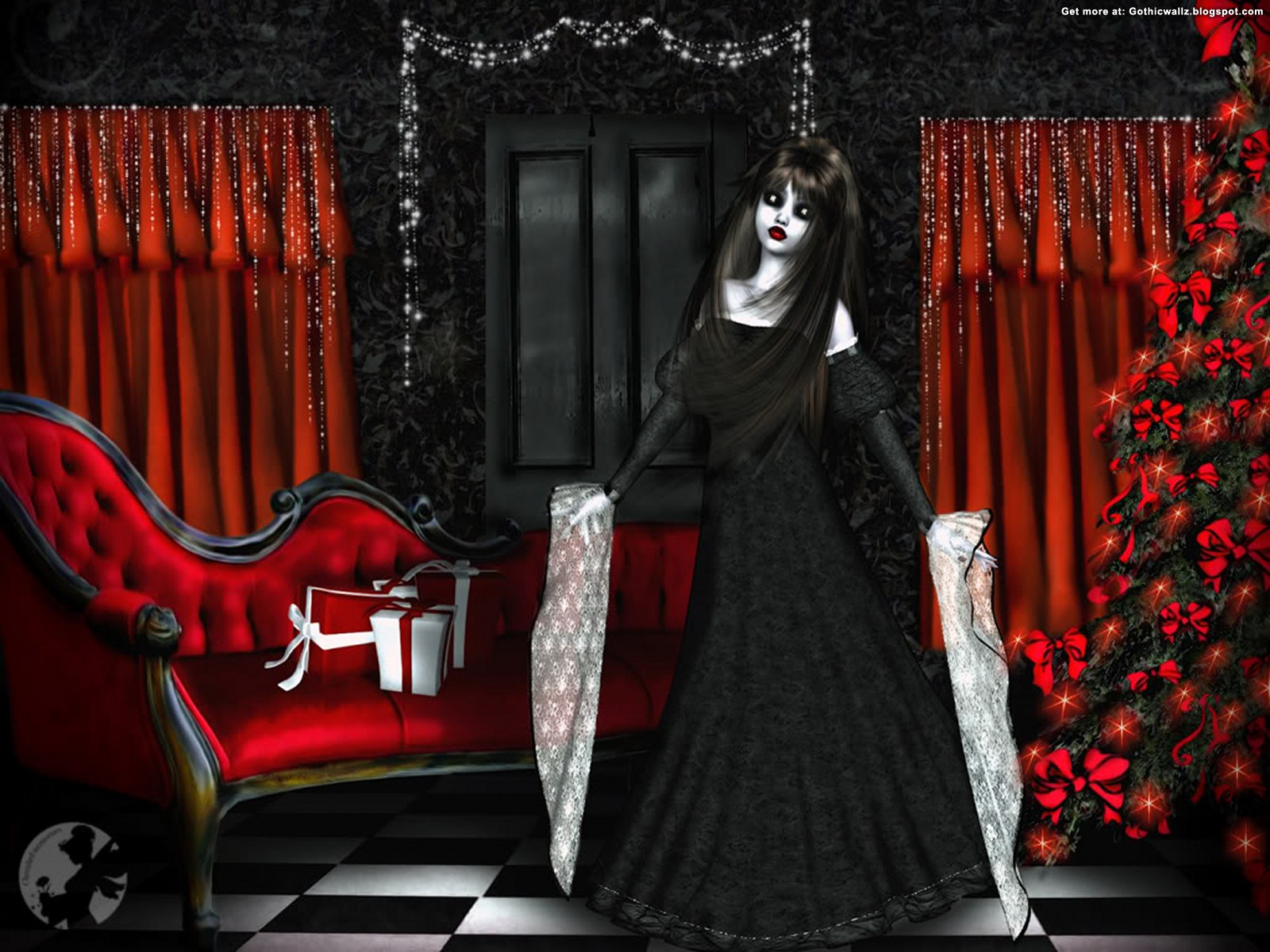 Gothic Christmas 1 | Gothic Wallpaper Download