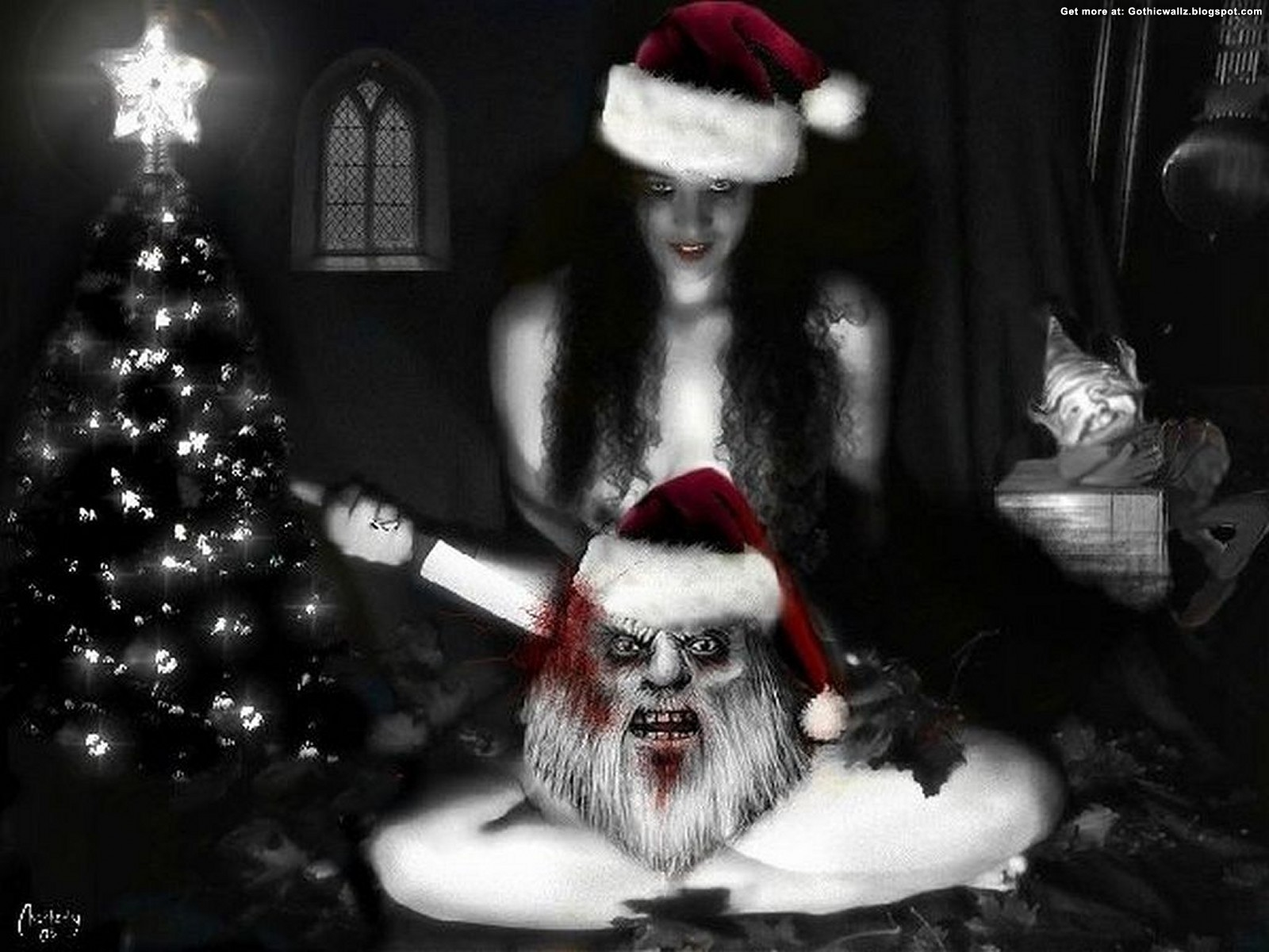 Dark Christmas Wallpaper | Gothic Wallpaper Download