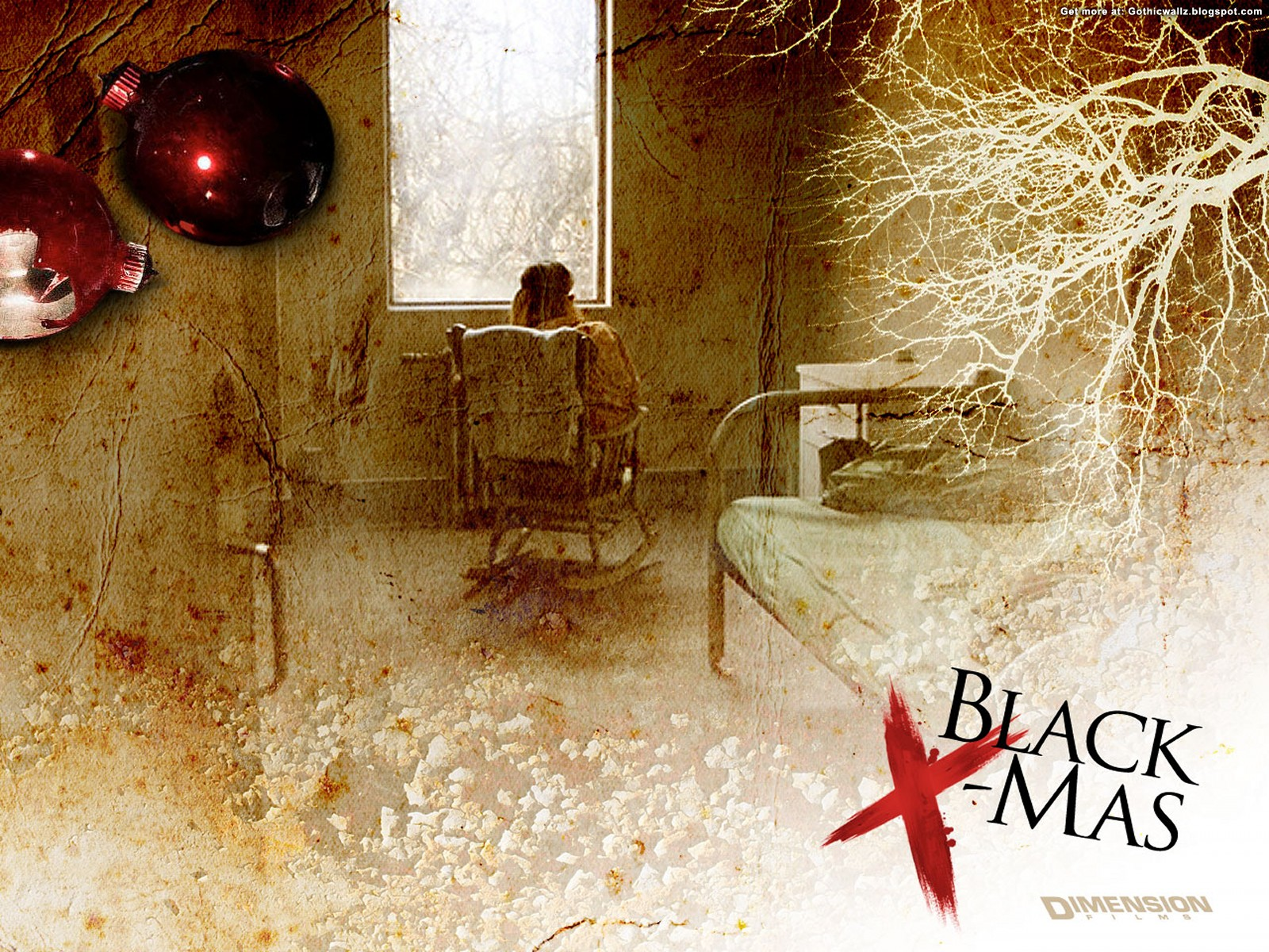 Black Christmas Wallpaper 4 | Gothic Wallpaper Download