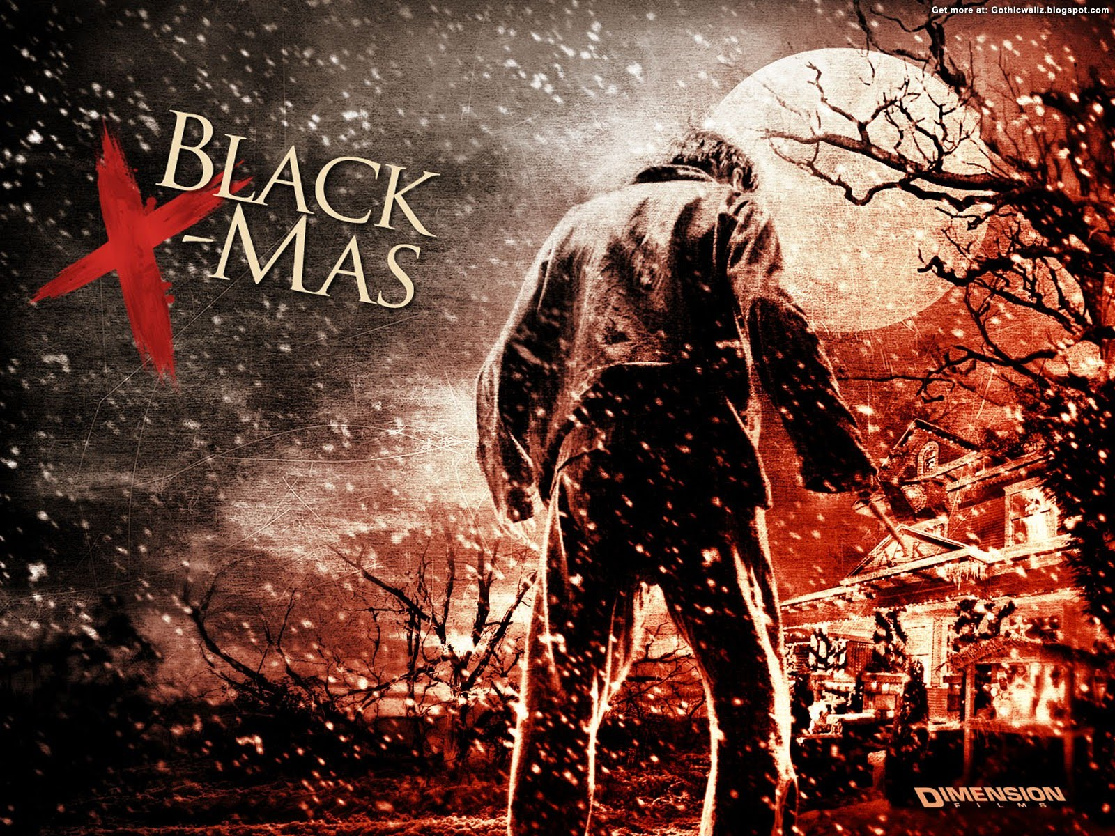Black Christmas Wallpaper 5 | Gothic Wallpaper Download