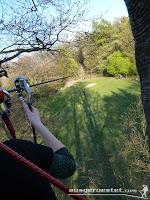 Kletterpark lange Seilbahn