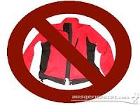 Kleidung verboten