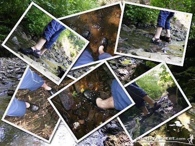 Crocs Off Road im Wasser