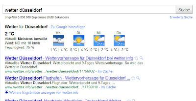 Wetter mit Google