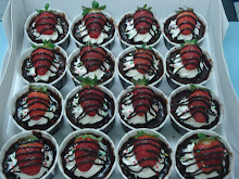 Cupcakes Choc Ganache with Strawberry