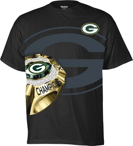 The Reebok® Green Bay Packers Super Bowl® XLV Champions Ring Side t-shirt