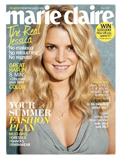 Jessica Simpson In 'Marie Claire': No Makeup