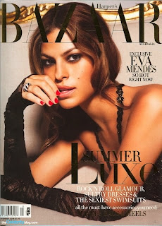 Eva Mendes Covers November 2008 Harper's Bazaar