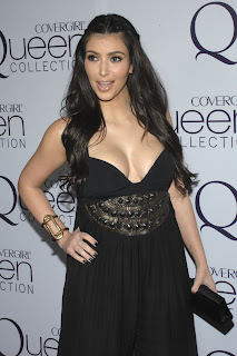 Kardashian Cleavage on Kim Kardashian Huge Cleavage At Perez Hilton S B Day Party   Famous