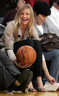 Cameron Diaz Supports Lakers