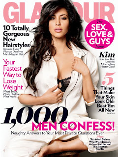Kim Kardashian Covers the February Glamour
